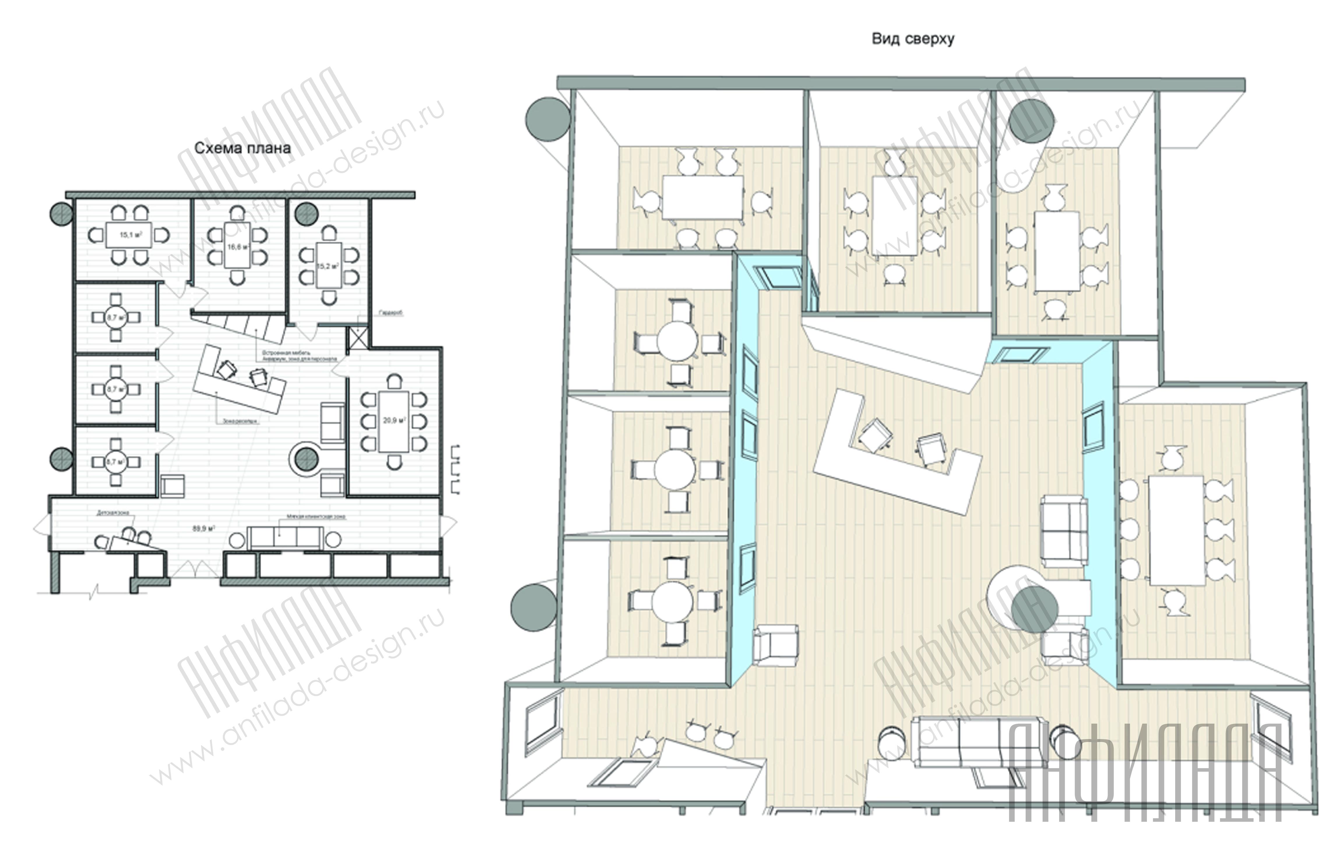 Анфилада план офиса 2