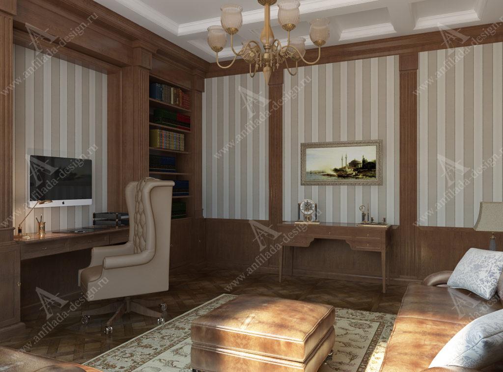 Дизайн кабинета в загородном доме