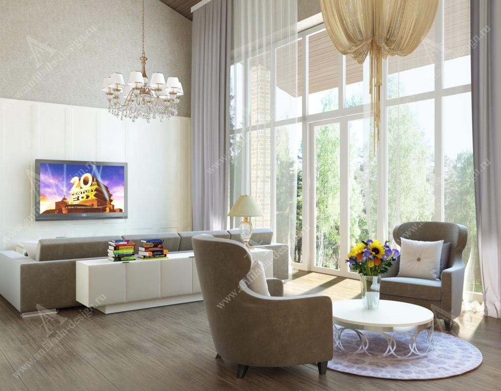 Дизайн интерьера загородного дома в стиле Неоклассика