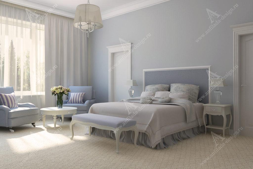 Номер Дизайн интерьера спальни в стиле Провансгостиницы