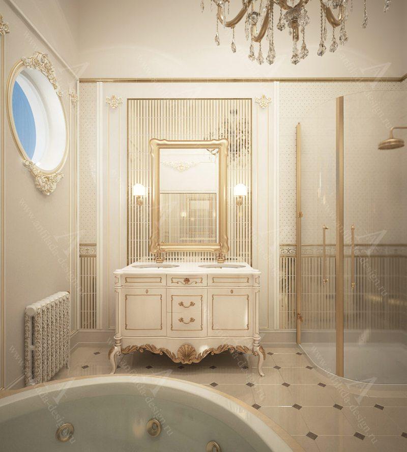 Ванная загородном доме