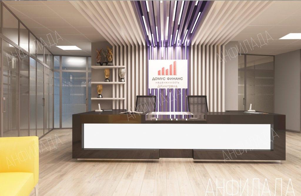 Дизайн офиса ресепшн