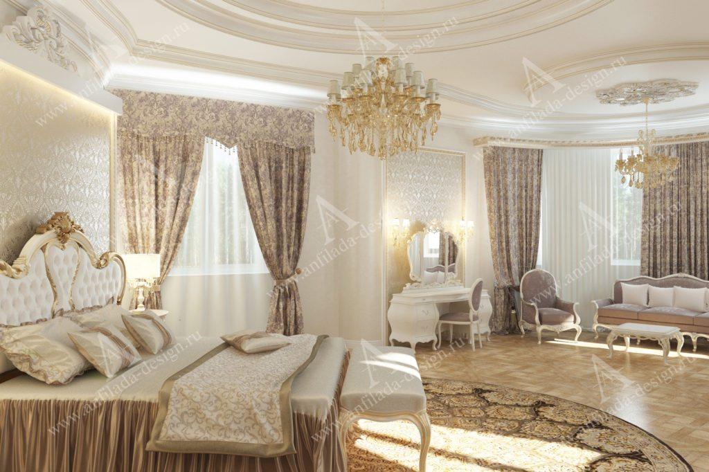 Интерьер спальни Ампир