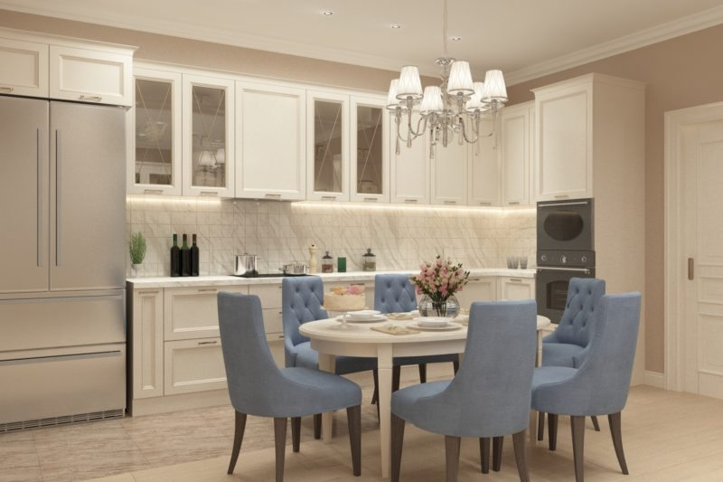 Дизайн проект светлой кухни