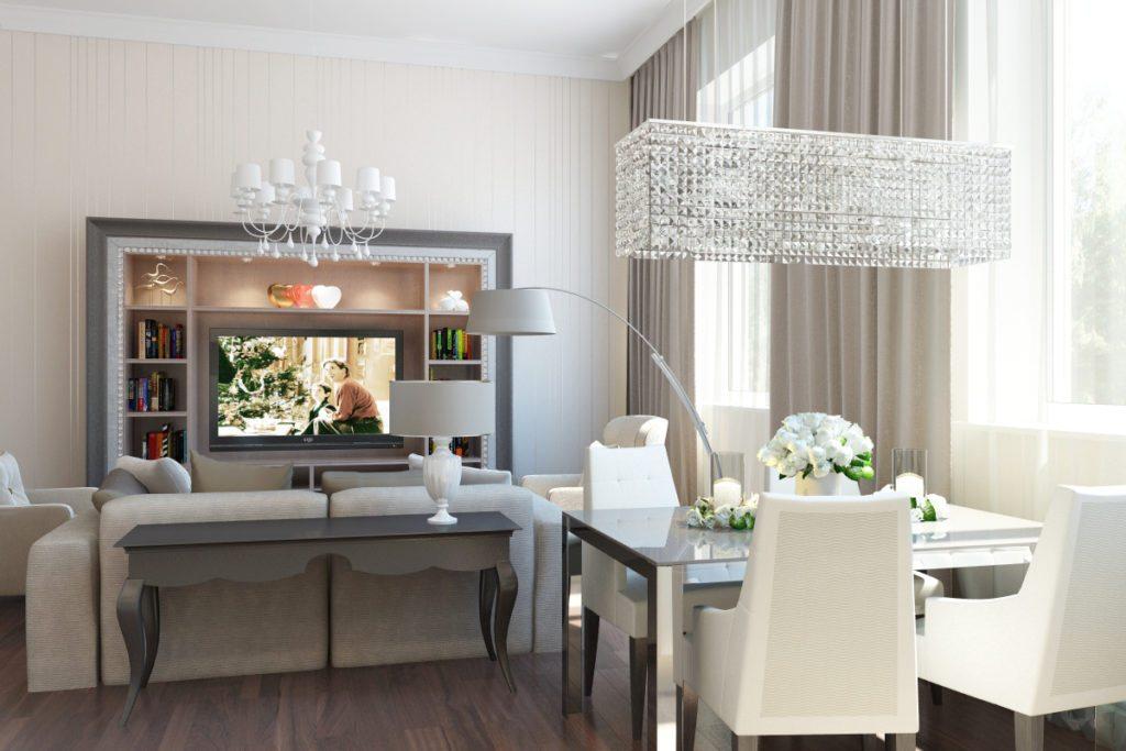 Дизайн интерьера гостиной квартиры