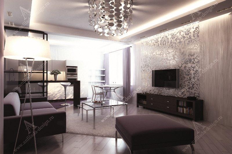 Проект современной гостиной