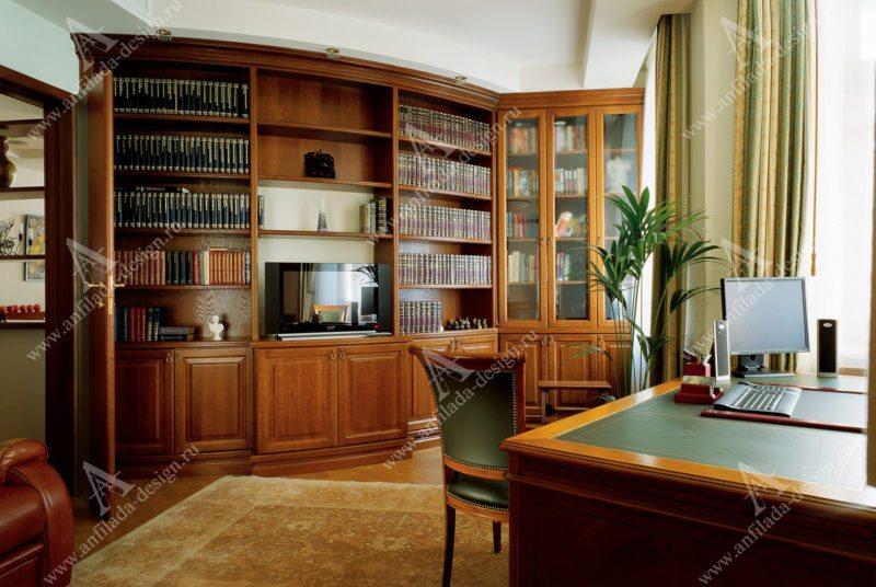 Дизайн кабинета в квартире Арт Деко