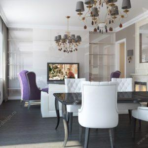 Дизайн гостинная Неоклассика