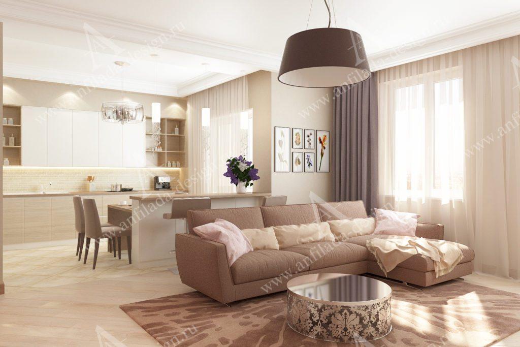 Дизайн современного интерьера квартиры