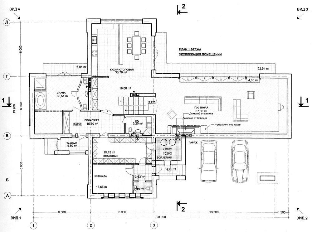 1 этаж планировка загородного дома