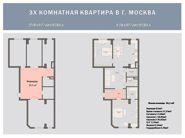 Улучшение планировки квартиры