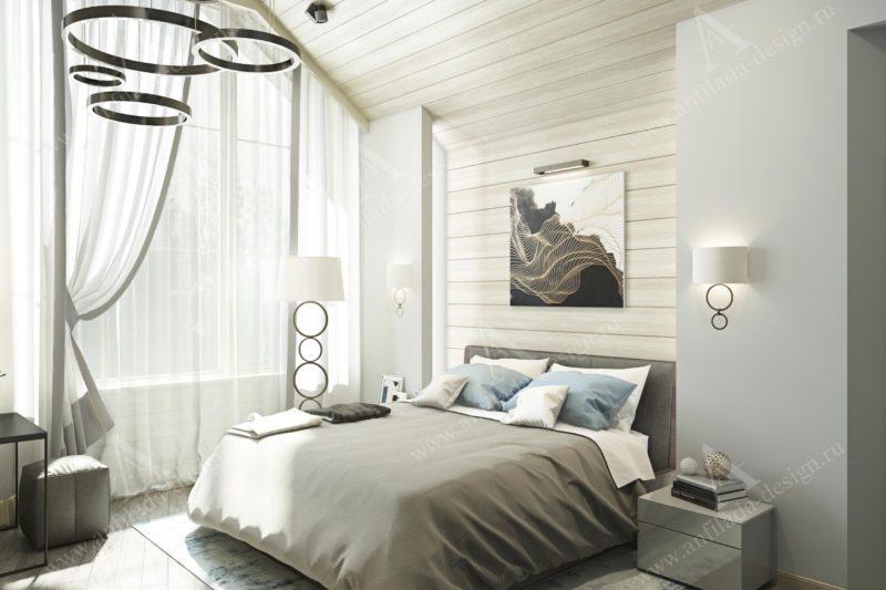Дизайн дома из бруса