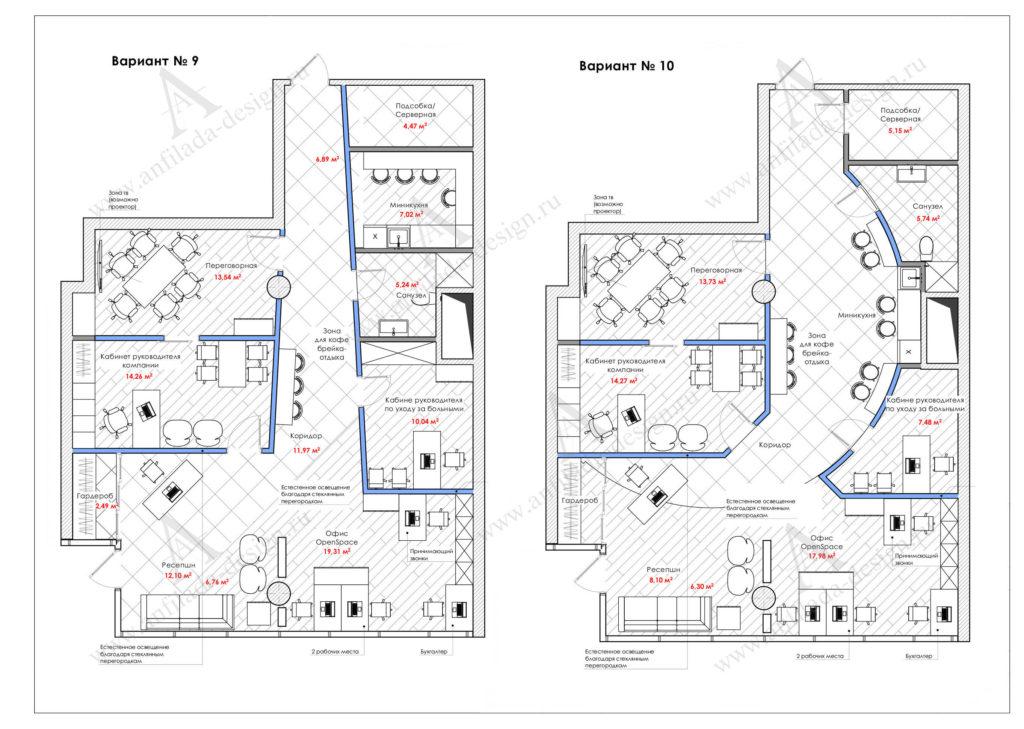 Планировочное решение офисного пространства