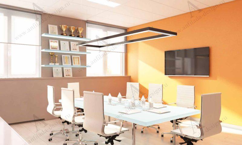 Дизайн проект интерьера офиса в современном стиле
