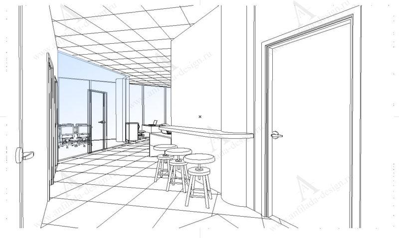 Дизайн проет офис Open Space