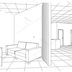 Проект интерьера современного офиса