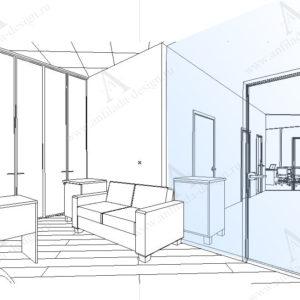 Дизайн интерьера офис Open Space