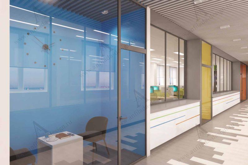 Дизайн проект мини переговорных офиса