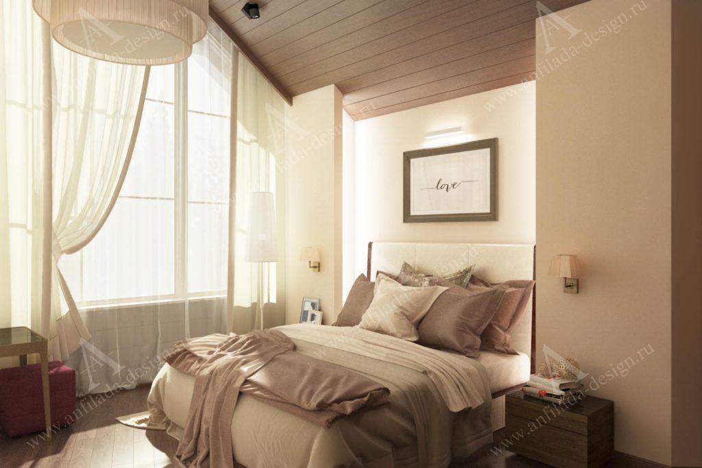 Спальня дом из бруса