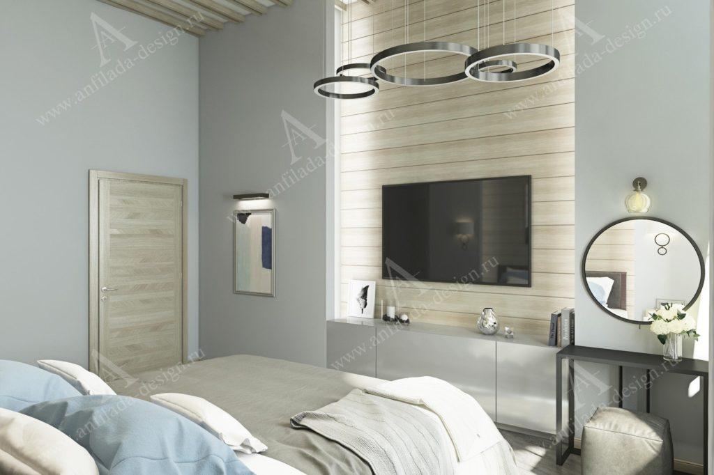 Дизайн спальнм в загородном доме