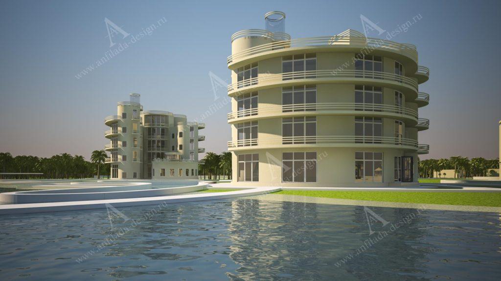 Проект гостиницы на море
