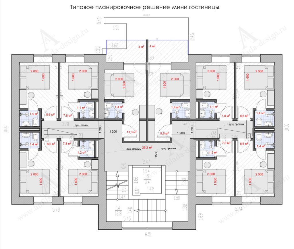 Проектирование хостела