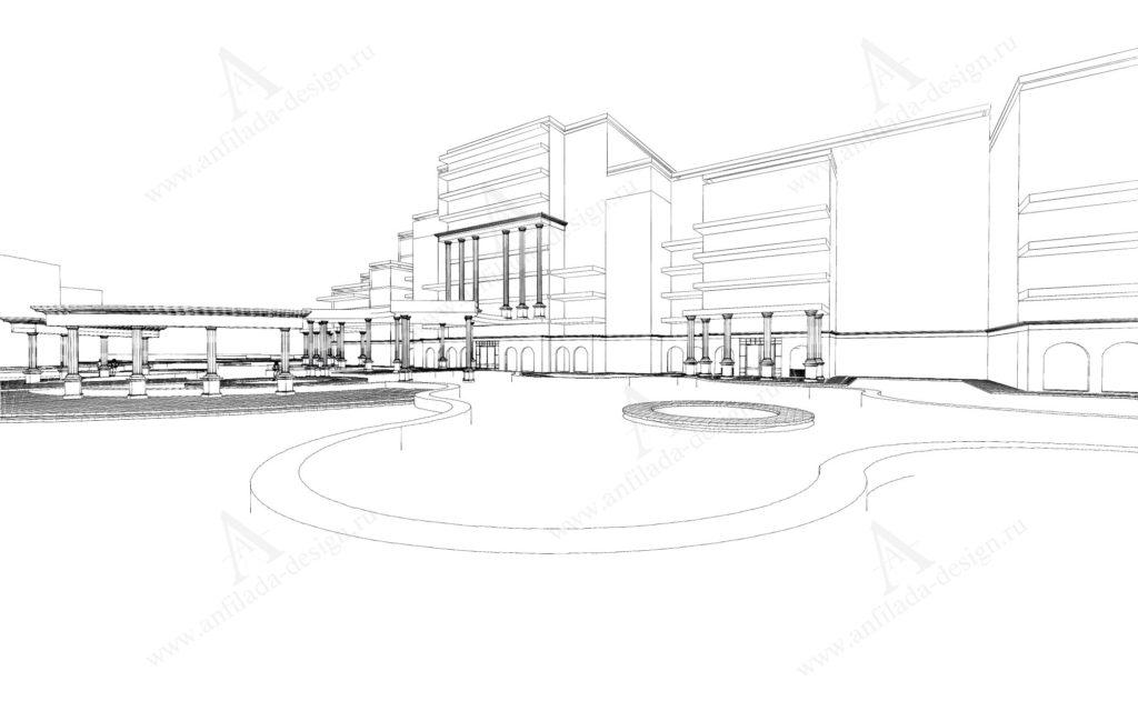 Проект здания гостиницы