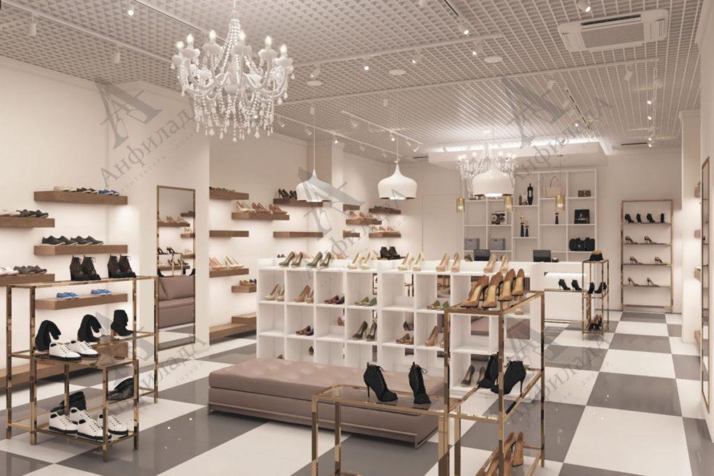 Дизайн магазин обуви