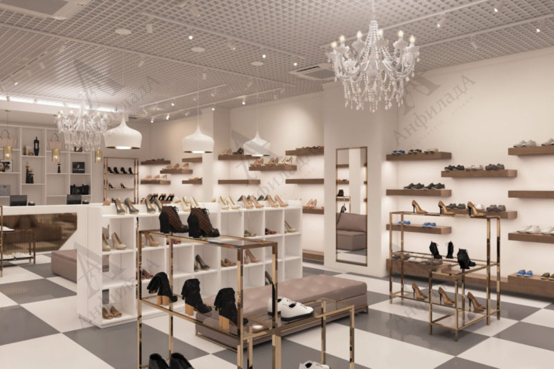 Магазин обуви дизайн проект