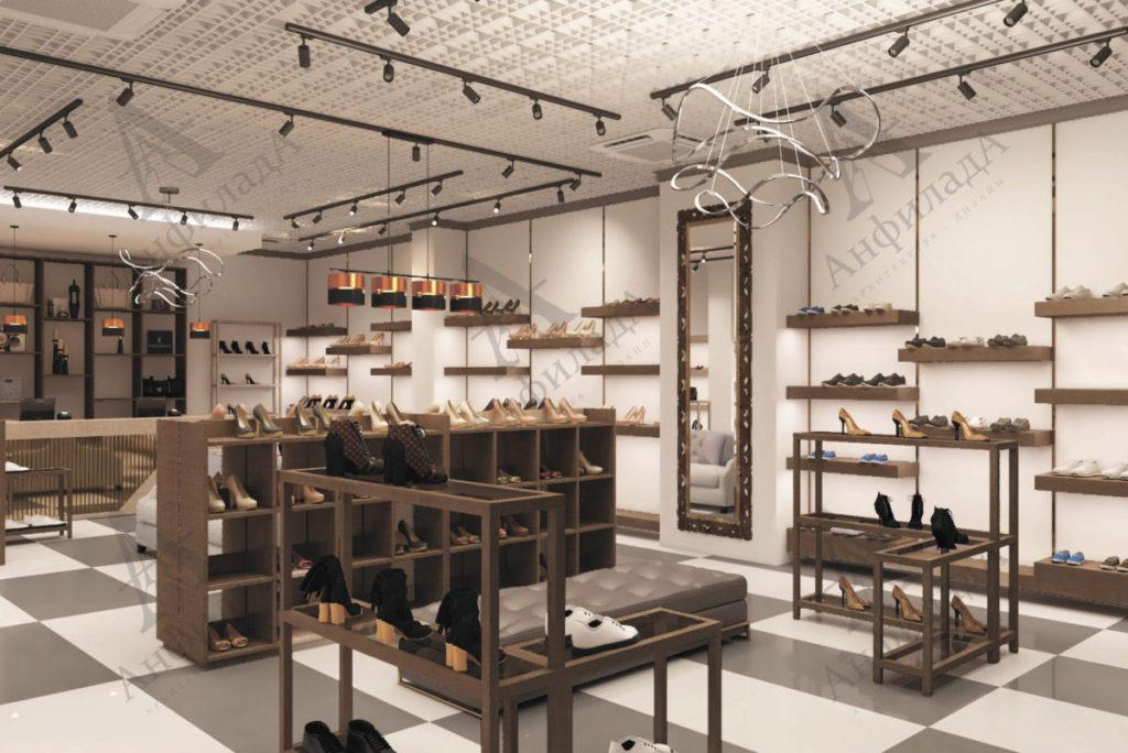 Дизайн магазина обуви заказать