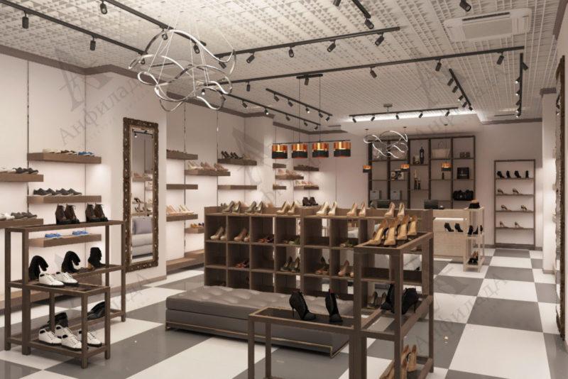 Дизайн проект магазина обуви