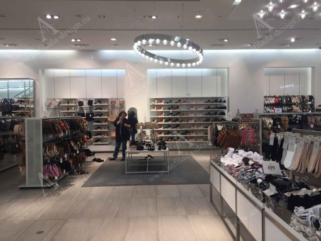 Дизайн интерьера магазина одежды