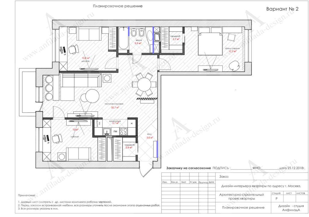 Индивидуальная планировка квартиры