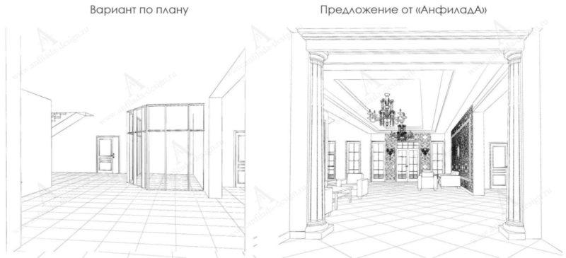 Дизайн проект интерьера гостиницы