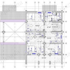 Проект дома рабочаа документация 2 этаж