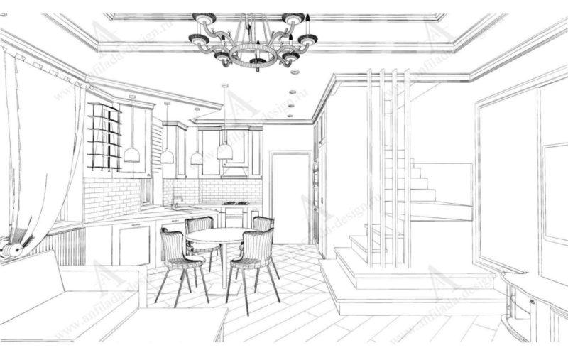 Дизайн 1-го этажай таузхаус
