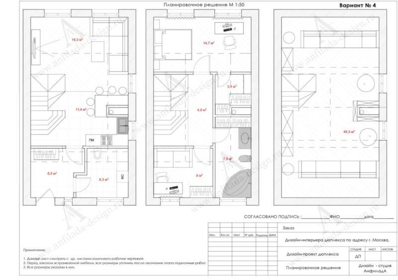 Дизайн и планировка таунхауса
