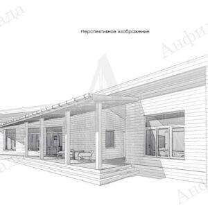 Проект загородного одноэтажного дома