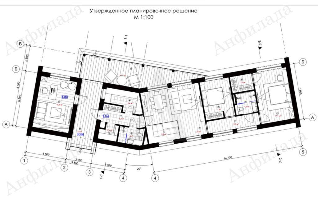 План загродного дома