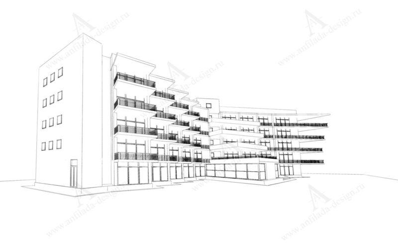 Проект современной гостиницы