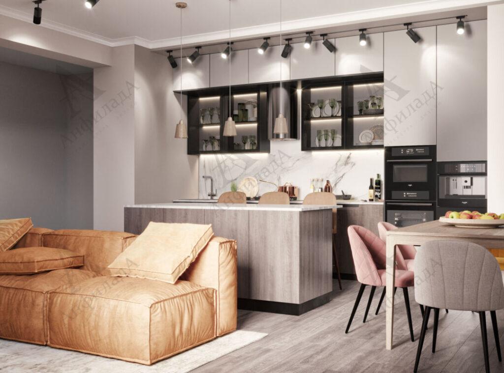 Проект кухни в современной квартире