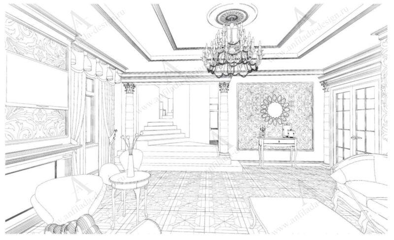 Проект квартиры Классический стиль