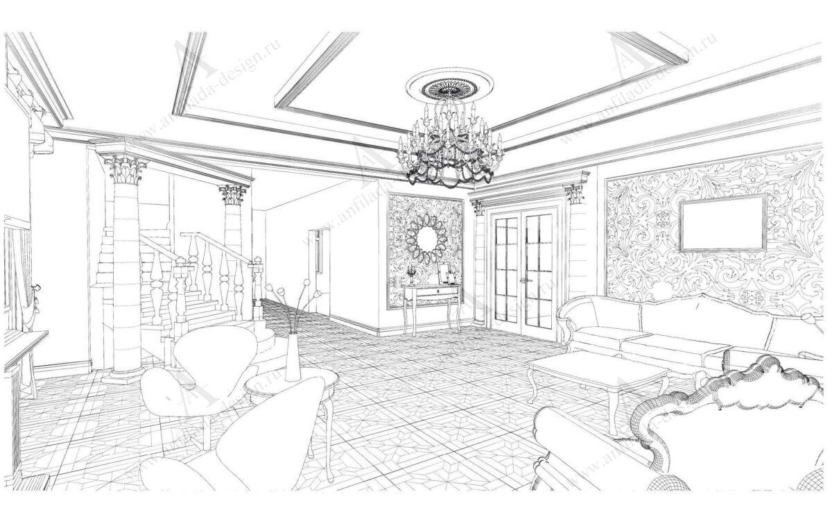 Классический стиль дизайн проект квартиры