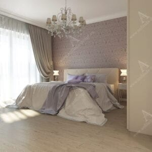 Дизайн проект интерьера спальни Классика